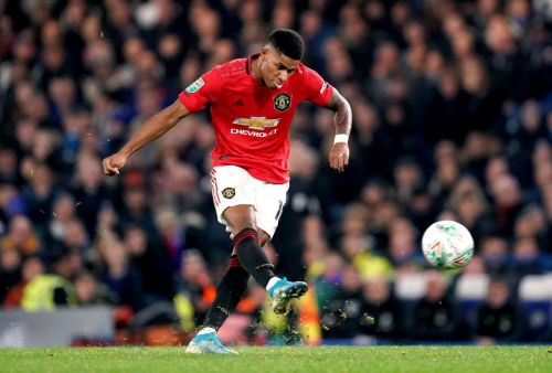 Manchester United's Marcus Rashford provides injury update