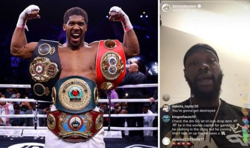 Deontay Wilder gives excuse for avoiding Anthony Joshua fight ahead of Tyson Fury rematch