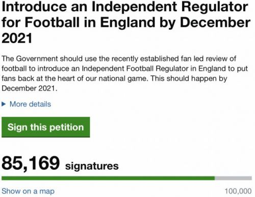 Gary Neville's petition for independent regulation off to incredible start with over 85,000 signatures on first day