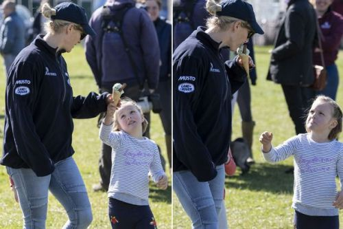 Mia Tindall's adorable reaction when mum Zara tries to share her ice cream