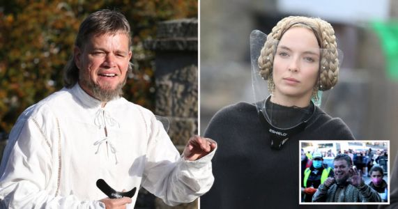 Matt Damon rocks glorious mullet as he returns to The Last Duel filming with Jodie Comer