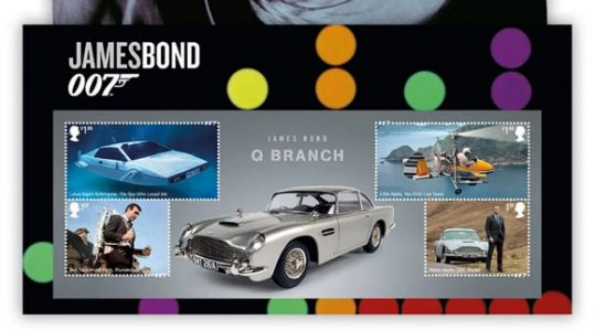 Royal Mail Immortalises James Bonds Old and New on Stamps