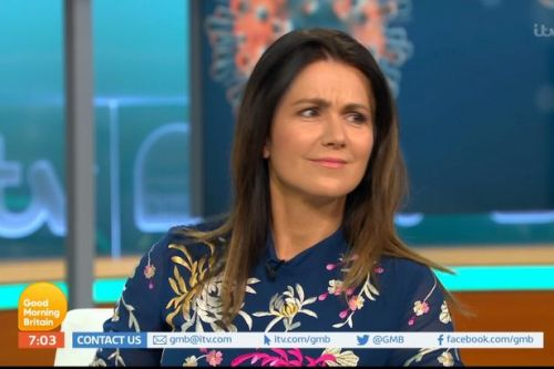 Piers Morgan leaves GMB co-host Susanna Reid red-faced with awkward sex jibe