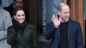 This is the sweet moment Kate and William rushed through Kensington Palace to greet their children