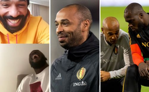 Romelu Lukaku reveals Thierry Henry embarrassed Belgium teammate in training so much he left the pitch