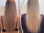 Woman shows off 12 weeks worth of  hair growth after taking an 'energy' vitamin