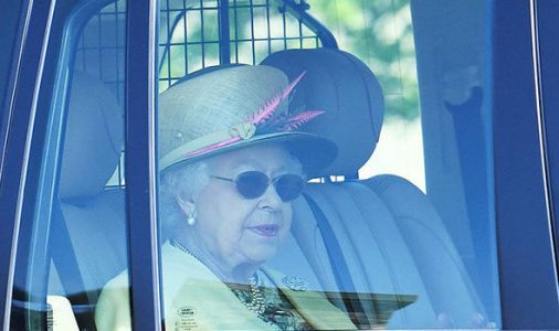 Morning after the night before! The Queen makes her way to church - but where's Philip?
