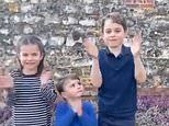 Prince Louis looks to 'leader' Prince George for 'reassurance' inthe 'clapping for carers' video