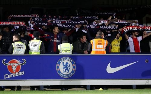 PSG hooligans barred from Champions League clash at Chelsea Women's ground after police find knives and drugs on coach