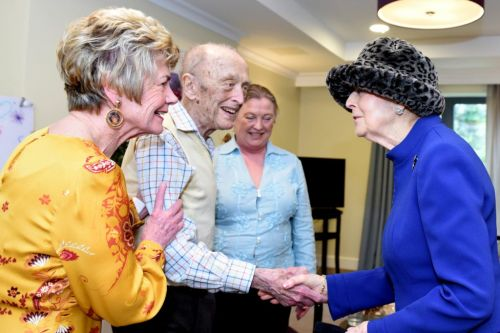 Princess Alexandra meets WWII veterans and Invictus Games athlete at Royal Star & Garter care home opening