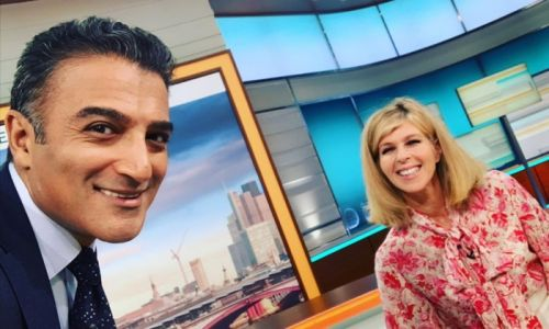 GMB presenter Adil Ray shares sweet selfie with Kate Garraway - as Downton Abbey star photobombs!