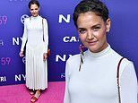 Katie Holmes attends premiere of The Tragedy Of Macbeth with Denzel Washington and Frances McDormand