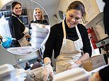 Princess Victoria of Sweden volunteers to food boxes for homeless and vulnerable people
