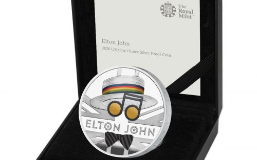 Elton John honoured with his own commemorative coin from The Royal Mint