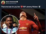 Manchester United's Mason Greenwood dedicates first Champions League goal to the late Jeremy Wisten