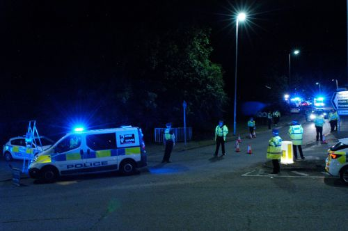 'At least ten injured' as two cars plough into crowd watching 'boy racers' meeting in Stevenage
