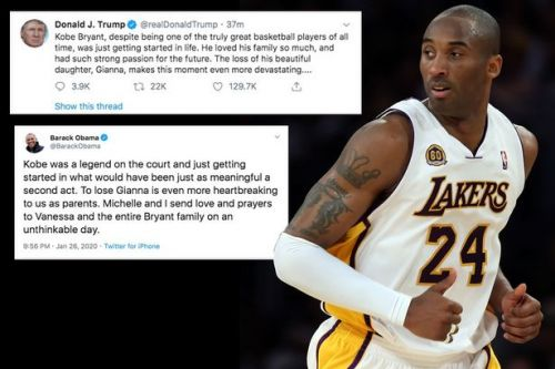 "Donald Trump pays tribute to ""truly great"" Kobe Bryant and ""beautiful"" daughter"