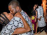 Gabrielle Union celebrates Dwyane Wade's birthday with a bonfire and beachside kisses