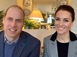 Prince William and Kate Middleton speak to frontline workers about bereavement support