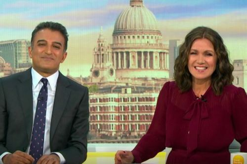GMB host Susanna Reid left flustered by topless Mark Wright's picture