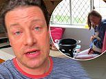 Jamie Oliver reveals he's been forced to film his new cooking show from home on his MOBILE