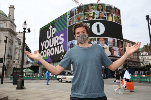 Greg James feels 'blessed' after completing Up Yours Corona campaign as video plays in Piccadilly Circus