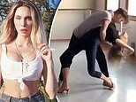 Chloe Lattanzi shows off her impressive moves during rehearsals for DWTS