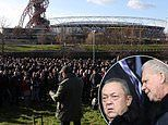 West Ham fans gather to protest against club owners David Sullivan and David Gold