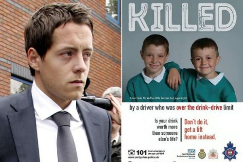 Image of brothers killed by disgraced drink-driving footballer on show in pubs