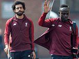 Mohamed Salah and Co arrive at Anfield ahead of Champions League clash
