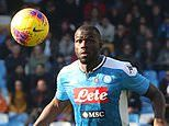 Napoli defender Kalidou Koulibaly ruled out of Champions League last-16 clash against Barcelona
