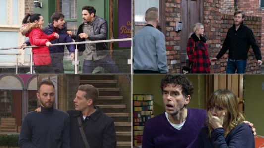 12 soap spoiler pictures: EastEnders balcony horror, Coronation Street baby tragedy, Emmerdale death, Hollyoaks stabbing