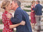 Daniel Craig shares a passionate kiss with French actress Léa Seydoux on James Bond set in Italy