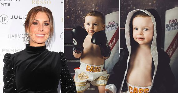 These photos of Coleen Rooney's son Cass, 2, posing as tough boxer will melt your heart