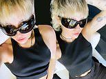 Miley Cyrus wears a 'dirty' shirt to match her 'mind' as she hikes down her pants on social media