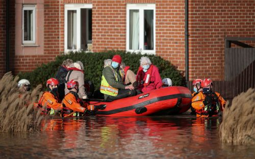 Storm Christoph in pictures: evacuations, floods and warnings of a danger to life