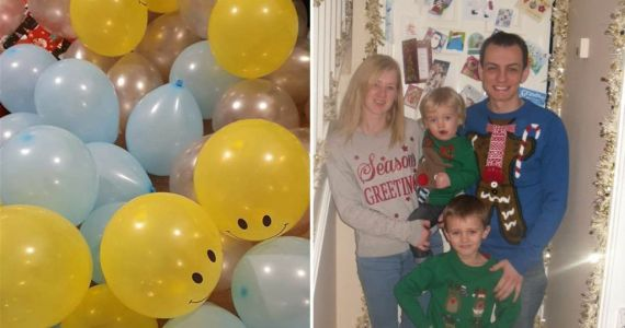Mum's balloon hack helps make Christmas magic when parents 'can't afford a huge pile of gifts'