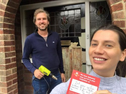 This Couple Couldn't Agree On Front Door Colour. Enter A Friendly Postie