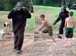 Hilarious moment group of parents prank their children to believe they're being chased by BIG FOOT