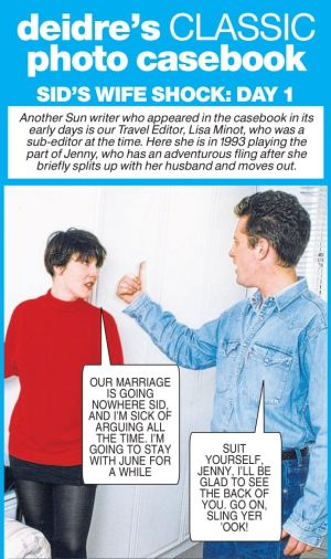 Jenny invites another man back to her house after arguing with husband Sid - Deidre's Photo Casebook