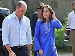 Prince William and Kate Duke and Duchess of Cambridge start Pakistan tour with school visit