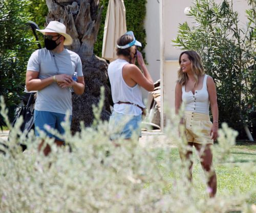 Bachelorette Clare Crawley shows off legs in sunny yellow shorts as she starts filming new season after production delay