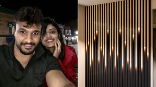Couple quoted £3,000 for light feature wall build it themselves for £270