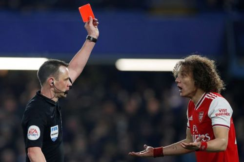 Chelsea fans troll Arsenal with David Luiz chant after red card and penalty scored