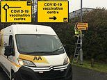 AA to install 5,000 free road signs for temporary vaccination centres