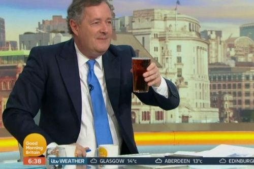Piers Morgan slapped with Ofcom complaints for drinking beer live on GMB at 6am