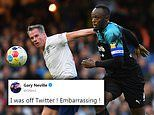 Gary Neville ends Twitter break to mock Jamie Carragher after Soccer Aid mistake