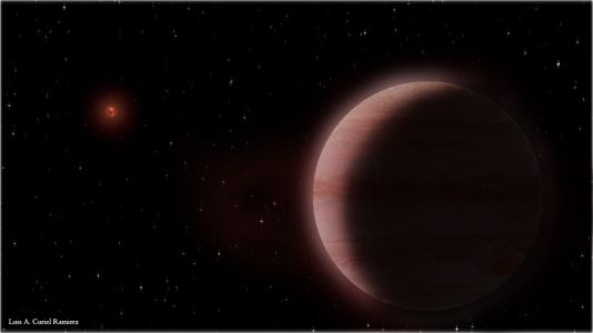 Radio astronomers measure star's wobble, find Saturn-size exoplanet