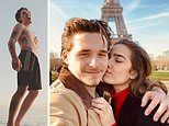 Brooklyn Beckham poses topless on family trip to Italy. as he stays coy about Hana Cross 'split'