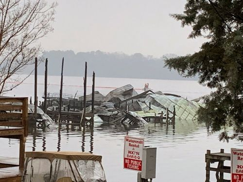 Several people have died in an Alabama dock fire that destroyed 35 boats